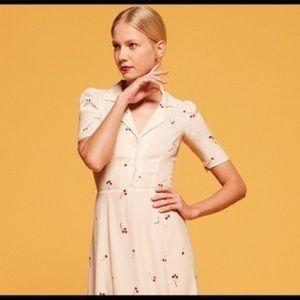 Reformation Abigail Dress Tart Cherry SZ 0 XS